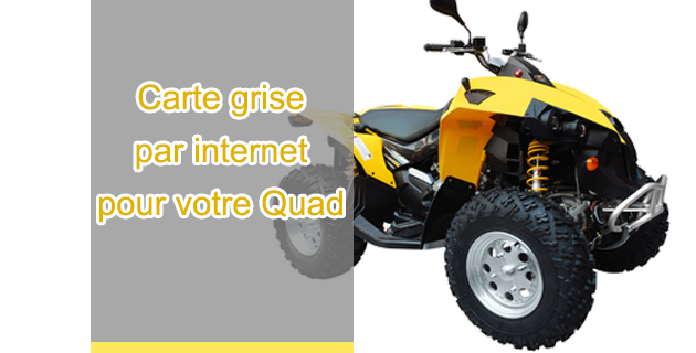 Carte grise par internet quad for Garage pour carte grise