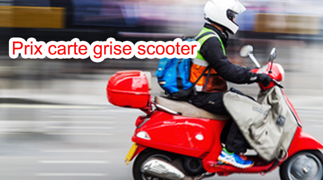 Prix carte grise scooter