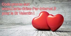 Code promo Carte Grise Par Internet Saint Valentin