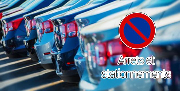 Arrets et stationnements
