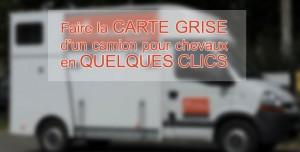 Carte grise camion chevaux